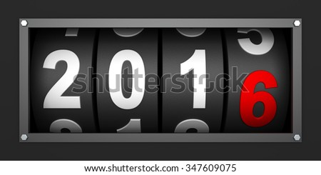 2016 New year countdown timer - stock photo