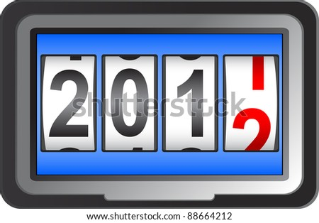 2012 New Year counter.