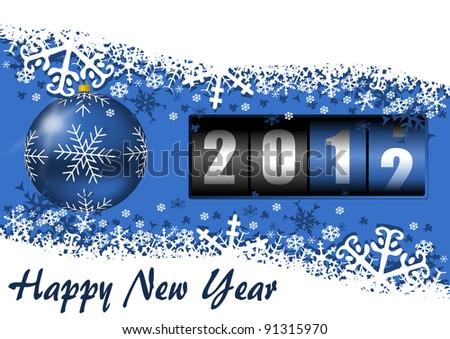 2012 new year illustration - stock photo