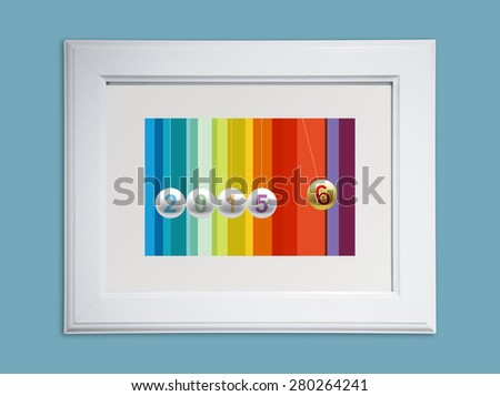 2016 new year in picture frame - stock photo