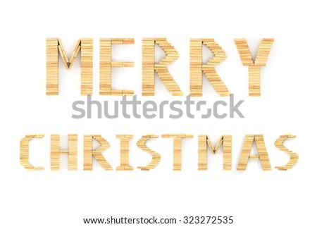 2016 New Year in shape from wooden  on white background - stock photo