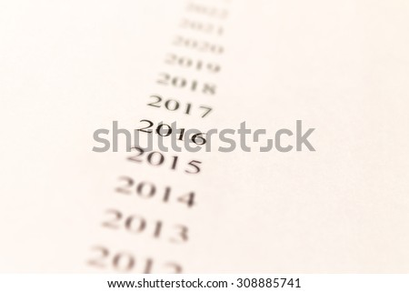 2016, new year, number, number, number allocated 2016, the prospect, white background