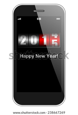 2015 new years illustration with counter - stock photo