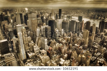 new york city  - downtown manhattan - stock photo