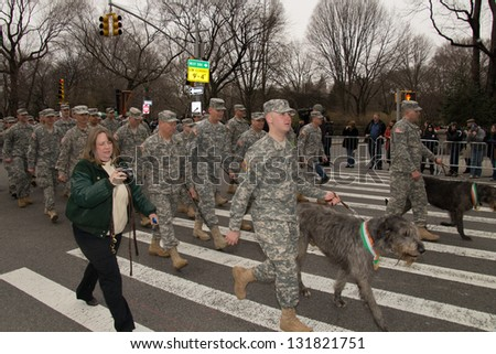 NEW YORK, NY - MARCH 17: 251st annual St. Patrick's Day parade on the March 17, 2012 in New York, United States.