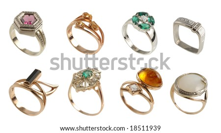 8 Nice Rings - stock photo