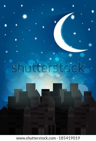 Night sky. Illustration format. - stock photo