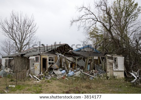 12-28-06 Ninth Ward of New Orleans over a year after Katrina, showing the devastation. - stock photo