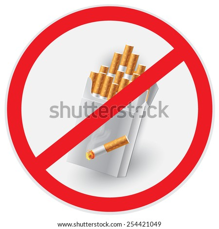 No, smoking, sign, clip art - stock photo