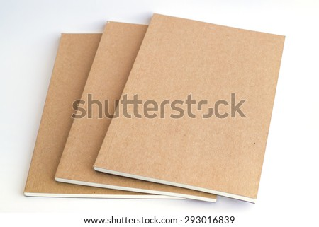 notebooks on white background - stock photo