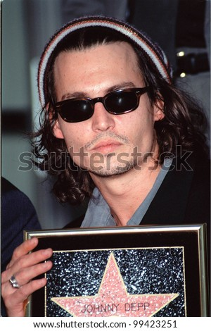 16NOV99: Actor JOHNNY DEPP in Hollywood where he was honored with the 2,149th star on the Hollywood Walk of Fame.  Paul Smith / Featureflash - stock photo