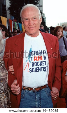 """13NOV99:  Former Apollo 11 lunar astronaut BUZZ ALDRIN at the world premiere of Disney/Pixar's """"Toy Story 2"""" at the El Capitan Theatre, Hollywood.  Paul Smith / Featureflash - stock photo"""