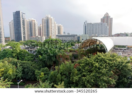 13 november 2015, China, Shenzhen, Nanshan cityscape with many buildings