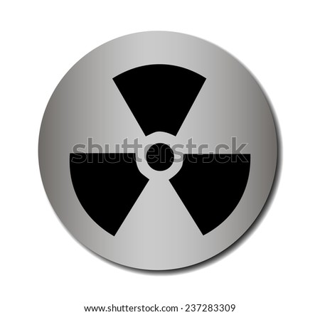 nuclear sign or icon  - stock photo