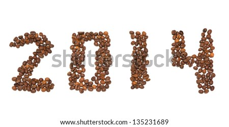 2014 number made from coffee beans
