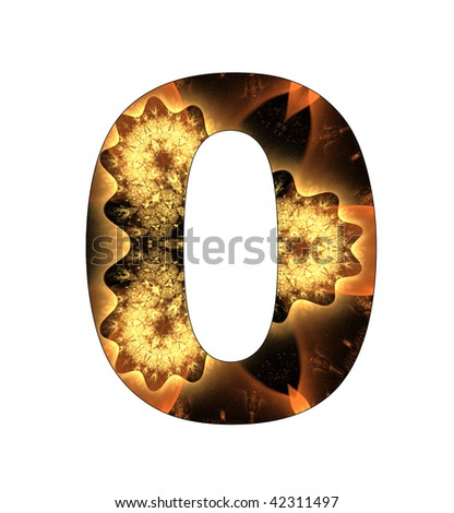 0 number with abstract design