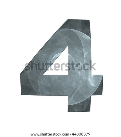 4 number with abstract design