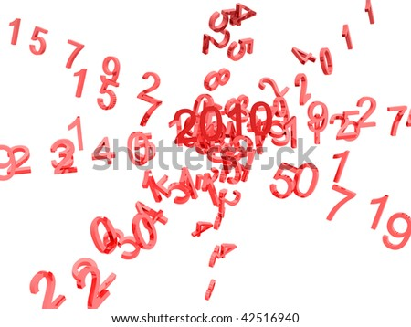 2010 numbers, new year design - stock photo