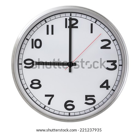 9 o'clock - stock photo