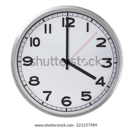 4 o'clock - stock photo