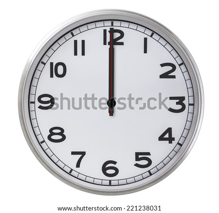 12 o'clock - stock photo