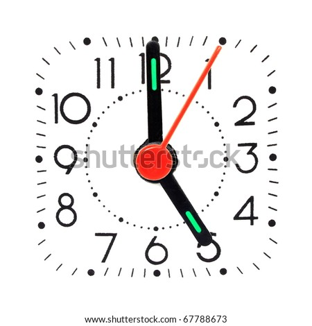 5 o'clock - stock photo