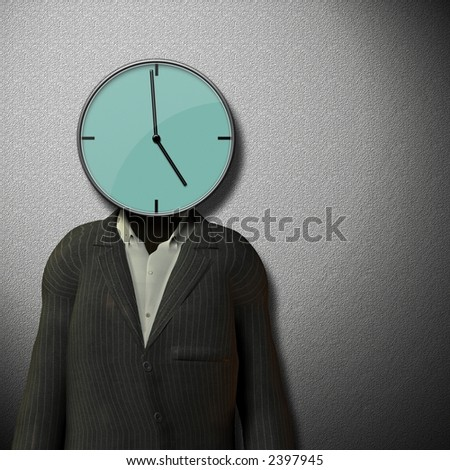 5 o'clock quitting time - stock photo