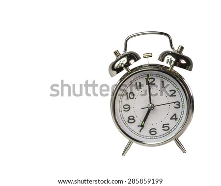 7 o'clock - watch alarm  - stock photo