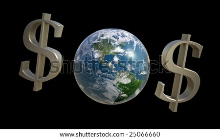 $O$ for planet Earth - stock photo