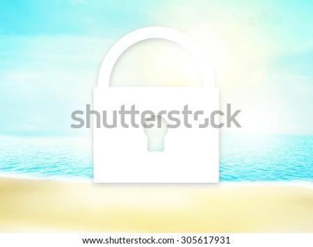 ocean open water - stock photo
