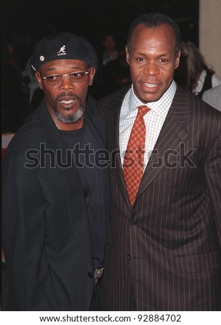 """12OCT98:  Actors DANNY GLOVER (right) & SAMUEL L. JACKSON at the Los Angeles premiere of Glover's new movie """"Beloved"""" in which he stars with Oprah Winfrey. - stock photo"""