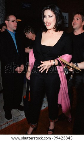 """19OCT99:  Former White House intern MONICA LEWINSKY at Los Angeles premiere of """"Three to Tango"""" which stars Matthew Perry, Neve Campbell & Dylan McDermott.  Paul Smith / Featureflash - stock photo"""