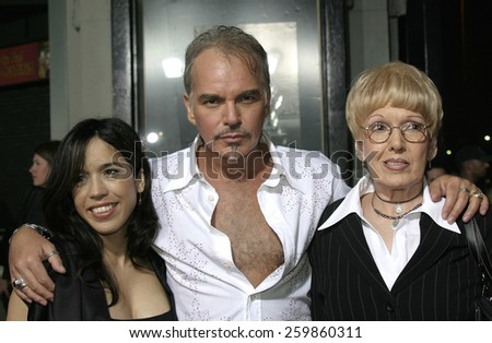 6 October 2004 - Hollywood, California - Connie Angland, Billy Bob Thornton and his mom. The world premiere of 'Friday Night Lights' at Grauman's Chinese Theater in Hollywood.  - stock photo