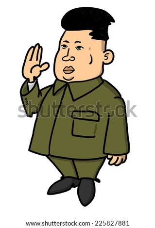 25 October, 2014: Illustration of North Korean leader Kim Jong-un in popular pose - stock photo