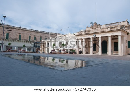23 october 2015-valletta-malta-overall view of the Freedom Square in valletta , malta