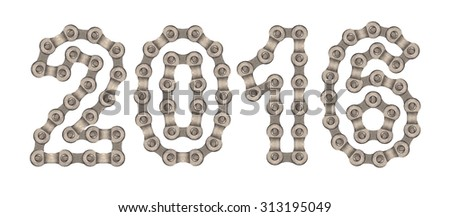 2016 of chain. - stock photo