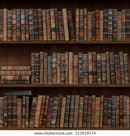 Old Books Seamless Texture Stock Illustration - Old book case