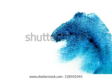 of water color on white paper - stock photo