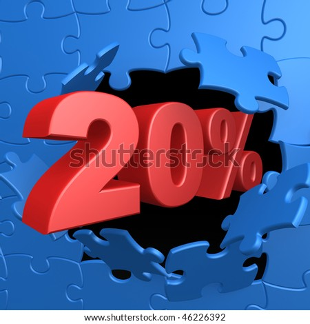 20% Off - stock photo
