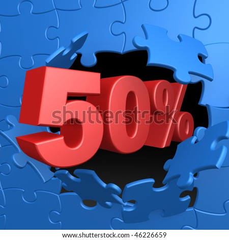 50% Off - stock photo