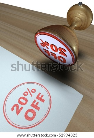 20% OFF - Illustration of a rubber ink stamp on paper