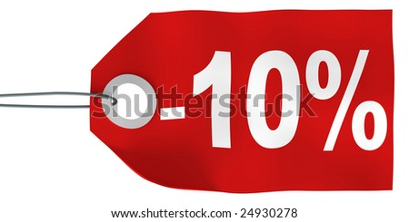 10% off tag - stock photo