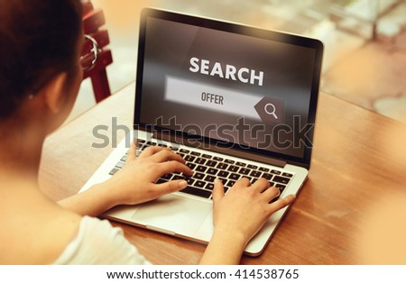 """ Offer "" Internet Data Technology Concept
