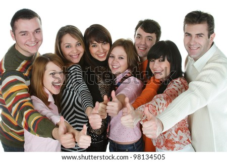 office managers  with a big smile - stock photo