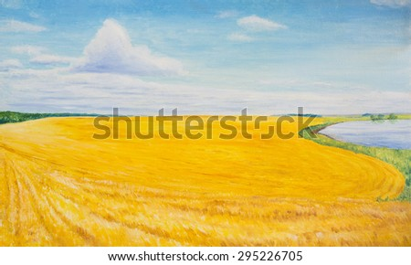 Oil painting - stock photo