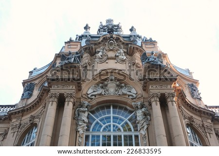Old building, Beautiful facade of the old building - stock photo