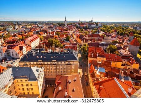Old city of Tallinn, Estonia. - stock photo