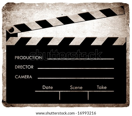 Old film Clapboard