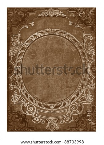 old floral cover book with copyspace - stock photo