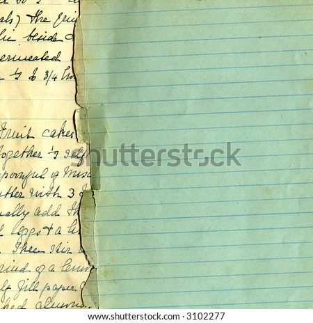 Old grunge paper with lines - stock photo